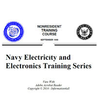 Electricity & Electronics Navy 24 Volume Set Training How To Manual Books On Cd