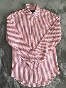 Ralph-Lauren-Men-s-Oxford-Shirt-Pink-Pinstripe-Small