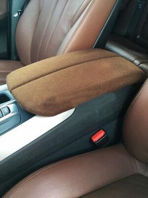 Carbon Fiber Leather Center Console Lid Armrest Cover Fits 14-17 F15 BMW X5