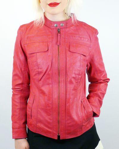 Casino en 70 années des femme de racing motard In Racer veste Nouvelle pour cuir Vente Pink q7RwFfHI