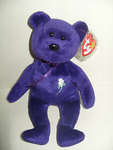TY BEANIE BABY BEAR PRINCESS FIRST EDITION MADE IN INDONESIA - MINT ... 51fce605f09
