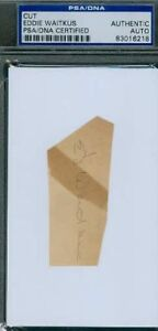 Eddie Waitkus Autograph 3x5 Index Cut Psa/dna Signed