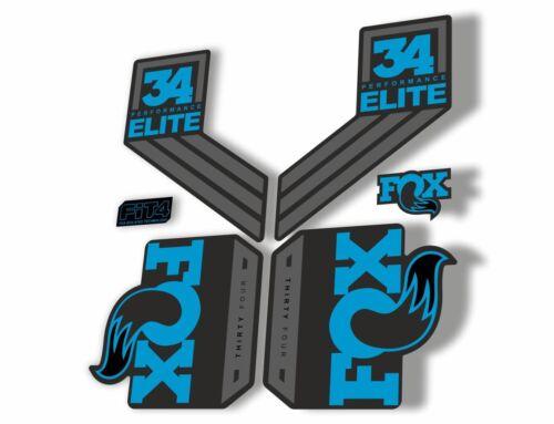 FOX 34 Elite Performance 2017-18 Fork Suspension Factory Decal Sticker Blue 1
