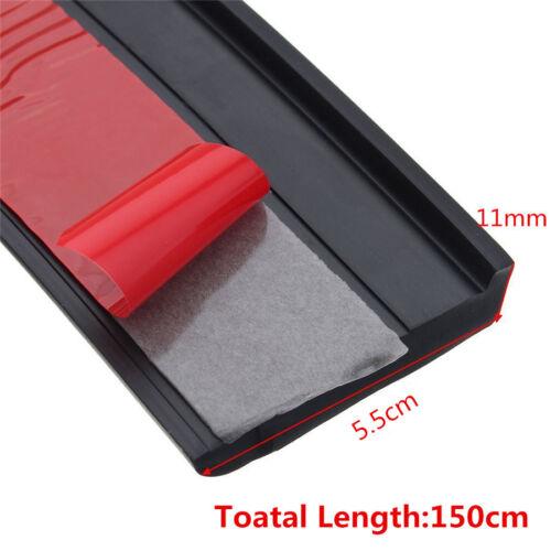 Negro de goma 2 piezas 5.5cm//1.5M ampliación coche Fender Bengalas extensión de Rueda de cejas