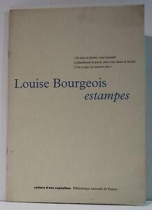 Louise-BOURGEOIS-Estampes-Plaquette-exposition-B-N-F-1995