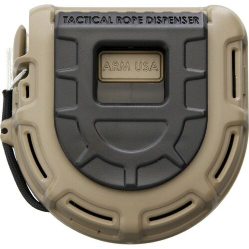 Dark Earth Tactical Rope Dispenser with 50 FT x 550 LB ARMTRDFDE Made in USA