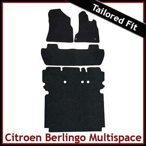 CITROEN-BERLINGO-MULTISPACE-2008-onwards-Tailored-Carpet-Car-amp-Boot-Mats-BLACK