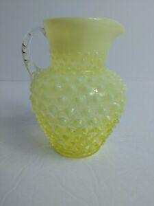 Vintage-Fenton-Topaz-Opalescent-Vaseline-Hobnail-Syrup-Pitcher-6-034