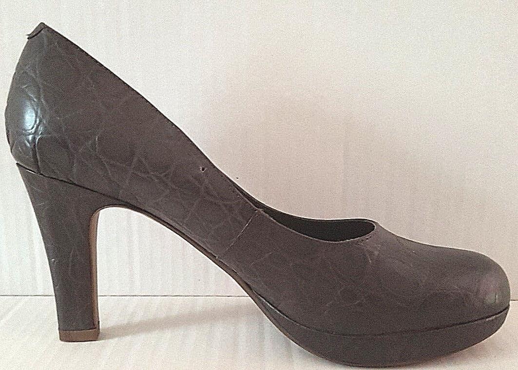 e645be8b Clarks Crisp Kendra Marrón Tacones Plataforma De Mujer De Cuero Zapatos