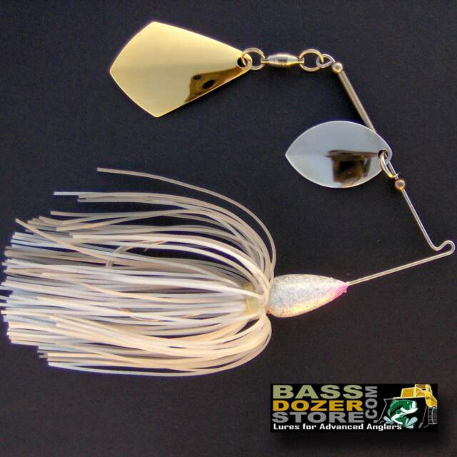 Bassdozer spinnerbaits ROYAL OKLAHOMA 3/8 oz N. SILVER PEARL spinner bait lures