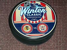 2015 WINTER CLASSIC PUCK Dueling  Washington Capitals vs Chicago Blackhawks
