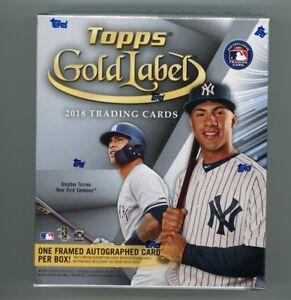 2018 Topps Gold Label Baseball Factory Sealed Hobby Box