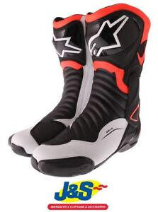 Details about Alpinestars SMX 6 V2 Sports Motorcycle Boots Motorbike Boot Black Red Fluo White