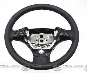 Coche-Volante-de-Cuero-Sport-Autentica-Piel-Nuevo-Convexo-para-Mazda-3-Bk-Compra