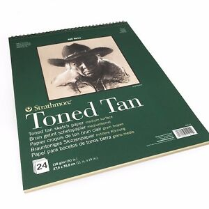 Strathmore-400-Series-Wiro-Toned-Tan-Sketchbook-24-Sheets-11-x-14-412-11