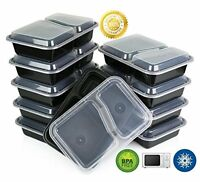 Green Direct Microwave Safe 2-compartment Food Containers With Lids/divided Plat on sale