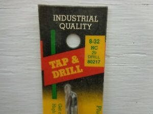 29 Drill Bit Set 80217 IRWIN HANSON 8-32 NC Tap and No