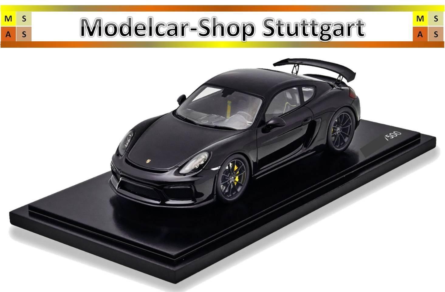Porsche Cayman GT4 Negro Exclusivo Manufactura Spark 1:18 Lim. 500 WAX02100022