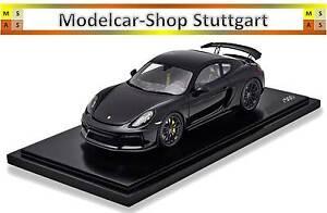 Porsche-Cayman-GT4-noir-Exclusif-Manufacture-Spark-1-18-Lim-Edition-500-Pieces
