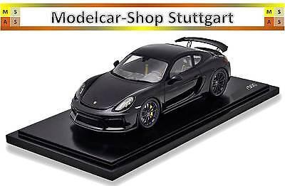 1:18 Spark Porsche Cayman GT4 Exclusive with ShowCase 2016 black