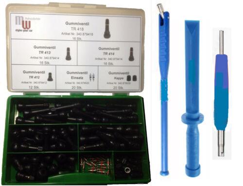 herramienta 103 pzas 413 surtido goma válvulas Válvula de neumáticos TR 412 418 414