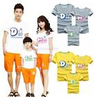 Family Summer Clothes Women Men Kids T Shirt Casual Short Sleeve Couples Tops