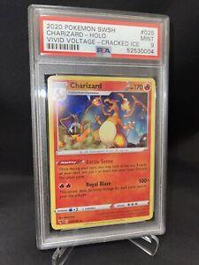 Pokemon Vivid Voltage Cracked Ice Charizard Card *MINT PSA 9*