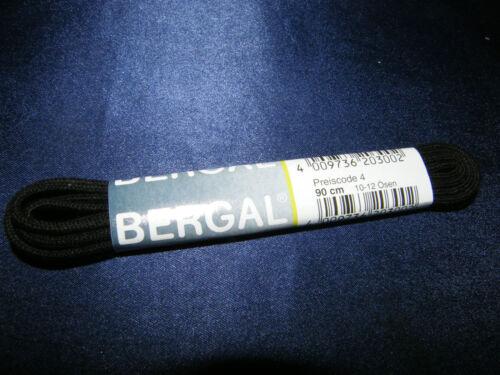 BERGAL NOIR 2 mm environ lacets dans les longueurs 45-200 Cm autonouants schnürriemen
