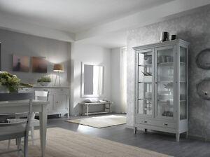 Credenza Vetrina Per Cucina : Vetrina cristalliera credenza colore bianco cucina soggiorno ebay