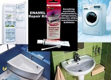 ENAMEL REPAIR KIT CERAMIC ACRYLIC BATH FRIDGE SHOWER WASHING MACH SINK WHITE