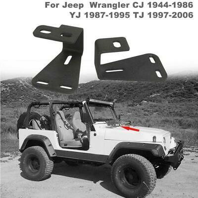 Kentrol Hood Catch Pair Black Stainless Steel for Jeep CJ Wrangler YJ  50401