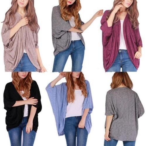 Women Long Sleeve Loose Knitwear Sweater Lady Casual Jumper Tops Shirt JA