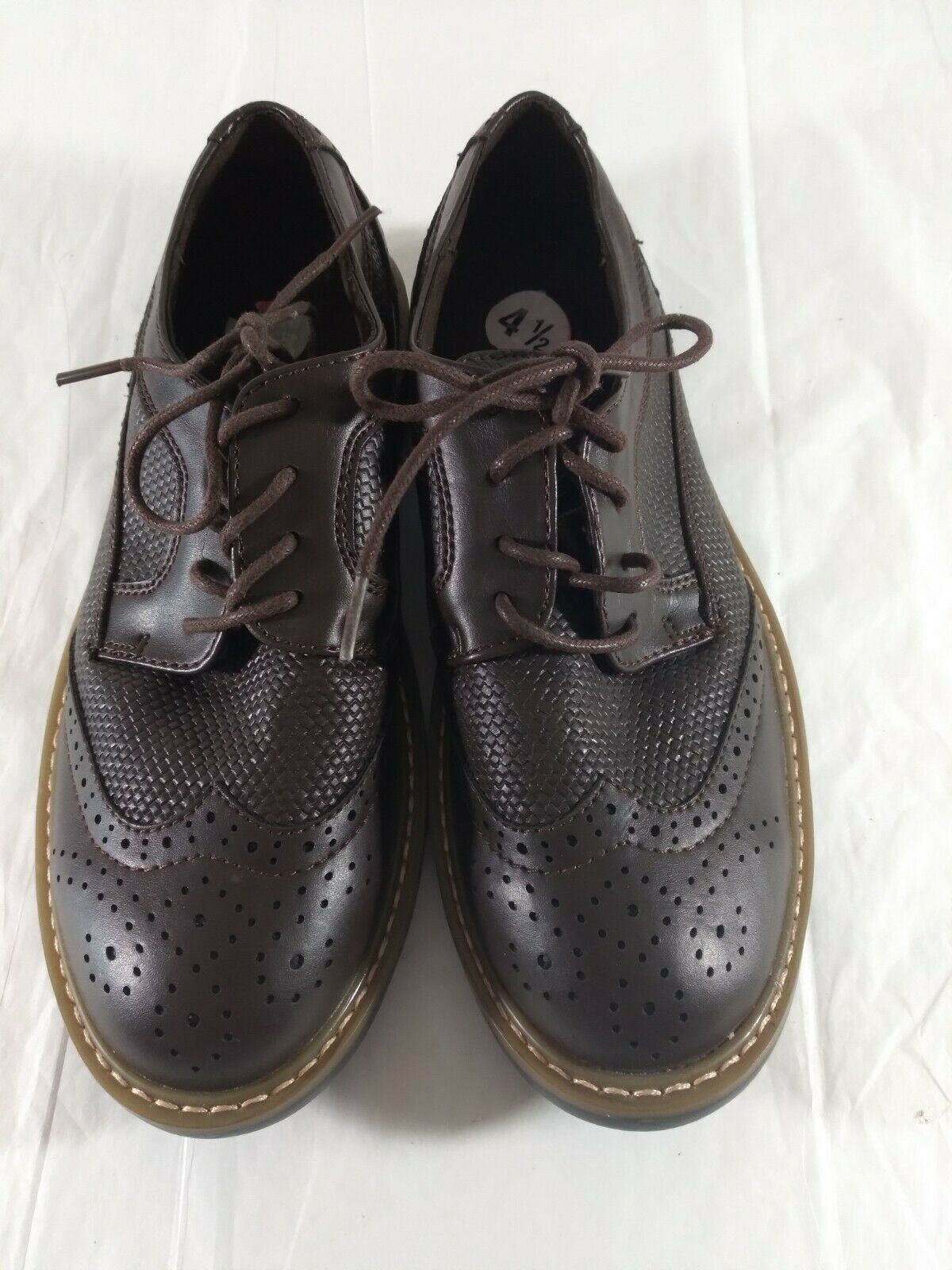 Kenneth Cole Reaction Shoes Brown Lace Up Sz 4.5