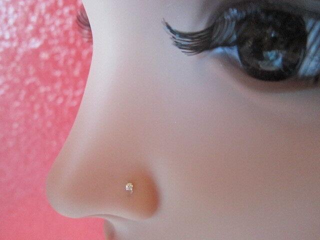 1 X 925 Silver 1 8mm Ab Square Cz Bobble 24g 0 5mm Nose Stud Nose