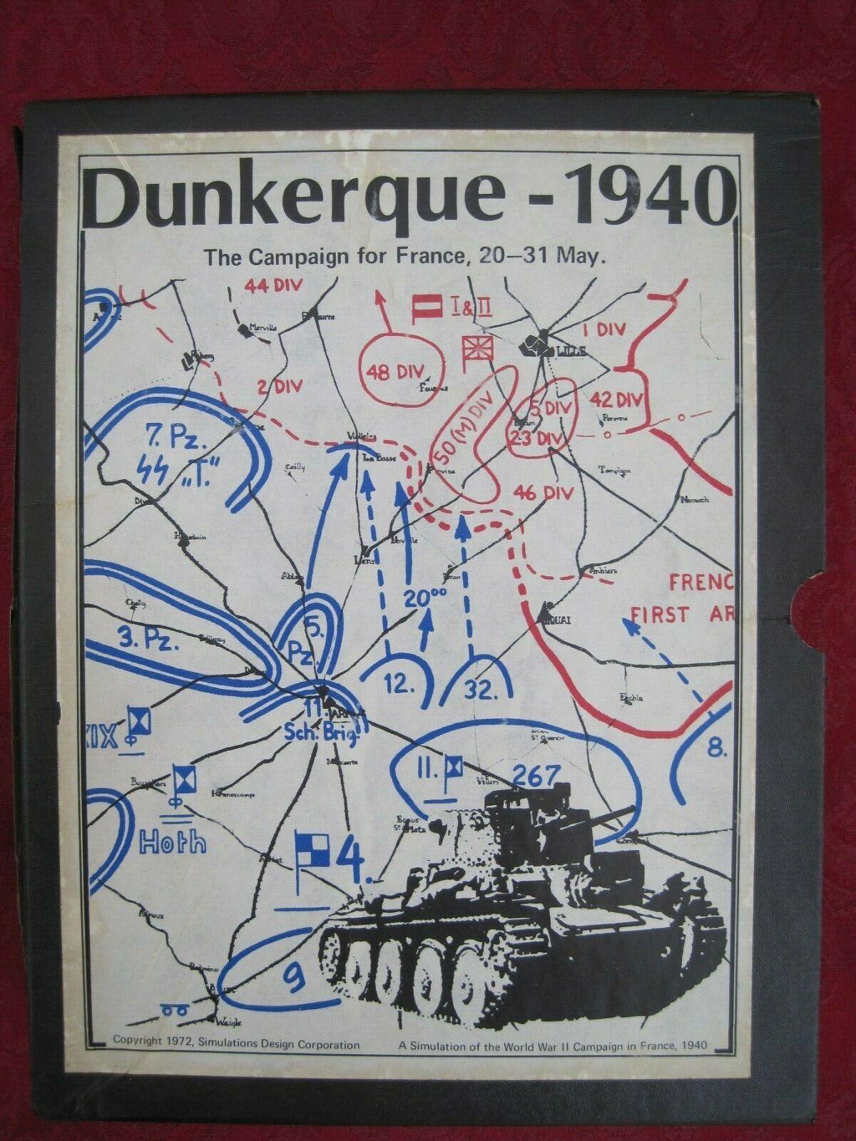 Juego SDC  Dunkerque 1940.Movimiento Francés, 20 a a a 31 de mayo.Verificación completada. 93e