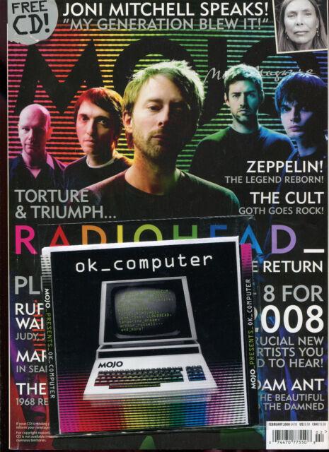 MOJO + free CD ... No. 171  February 2008  :  RADIOHEAD    JONI MITCHELL