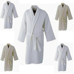 Gown Supreme Waffle Bath Robe Ladies Men Hotel or 100% Cotton ... 7733e62d0