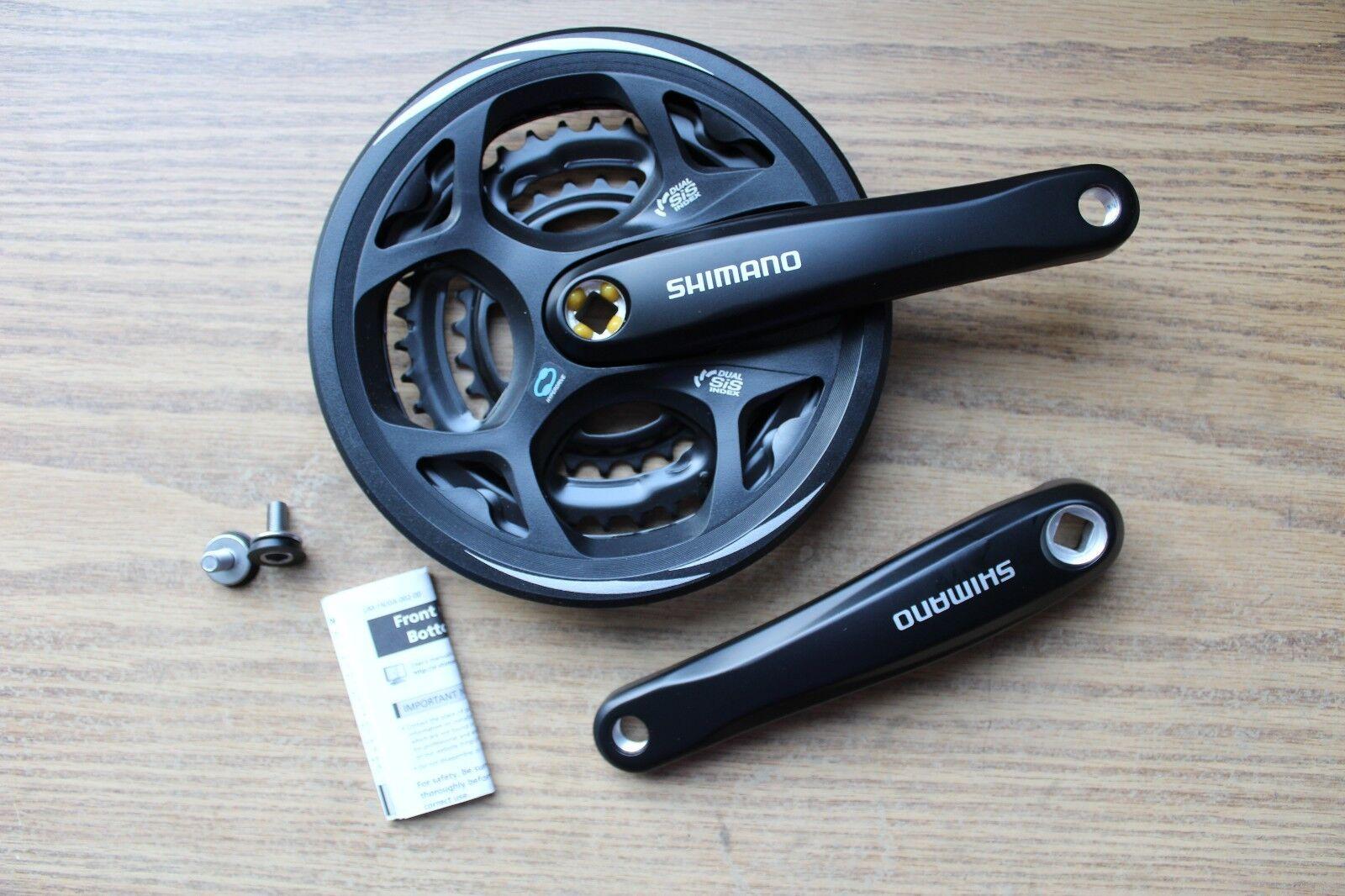 Shimano FC-M311 Triple Crankset 7 8 Spd 175 Square 48x38x28  Bike Cranks w Guard