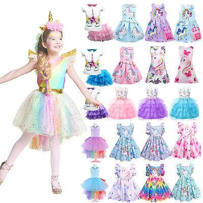 Girl Kid Princess Tutu Dress Unicorn Cosplay Costume Birthday Wedding 2020 Party