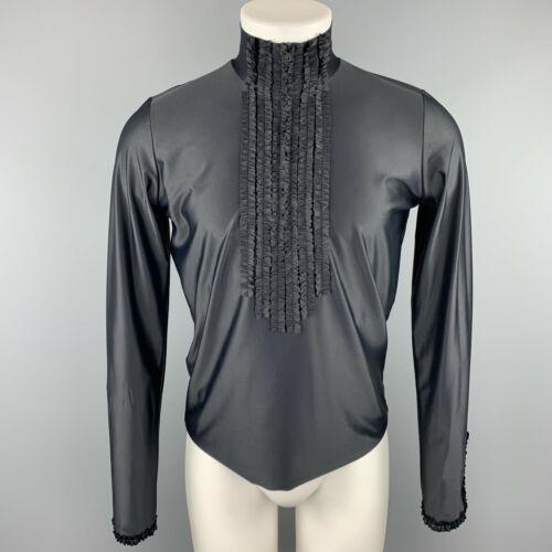 Vintage JEAN PAUL GAULTIER Size XL Black Ruffled P