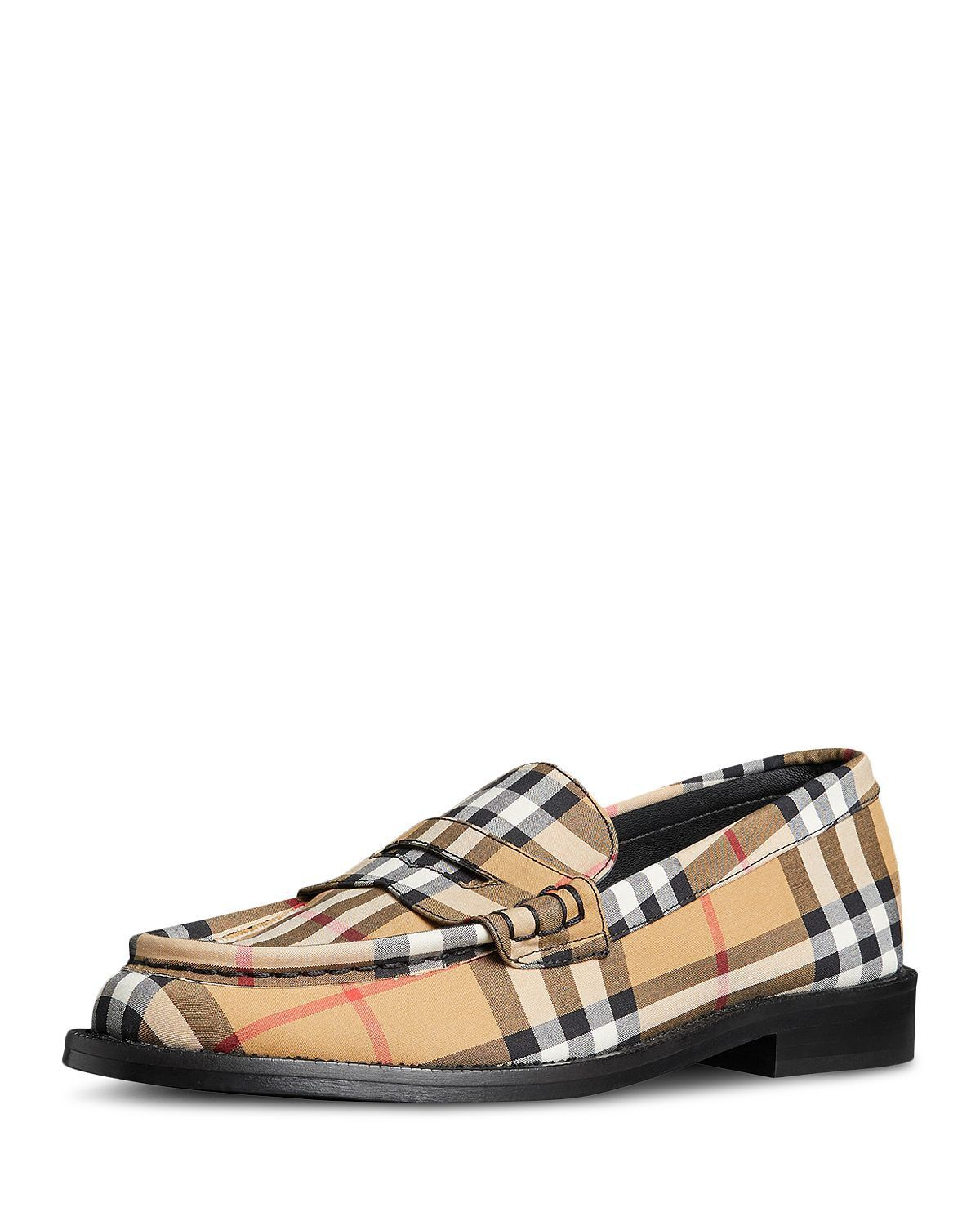 NEW  620 620 620 BURBERRY Women's Bedmont Check Loafers shoes, Size US 9   EU 39 90d01a