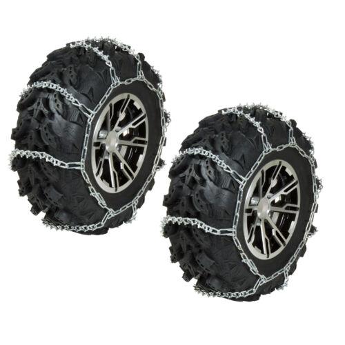REAR ATV Tire Chains V-Bar PAIR 1991-2002 Suzuki King Quad 300 4x4
