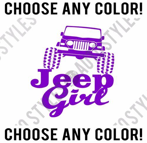 Car Window Fender Jeep Girl Wrangler CJ YJ TJ JK Silhouette Decal Vinyl Sticker