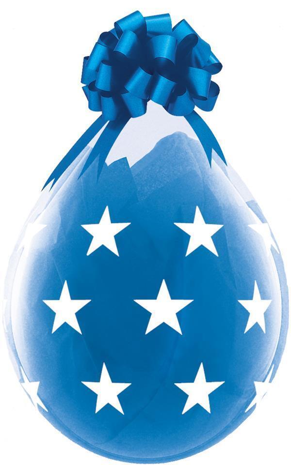 Große Sterne Qualatex 45.7cm Klar Luftballons X 25 - Füllung oder Luft | Günstigstes  | Primäre Qualität