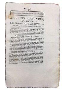 La-Beaume-1804-Ivoy-Carignan-Feuille-de-Douai-Rare-Journal-du-Consulat