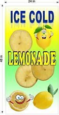 2 X 4 Vinyl Banners Lemonade Drink W Cartoon Fruit Choose Fruit Flavor Fun