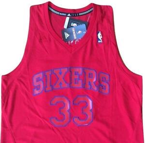 80d7577cea7 Image is loading PHILADELPHIA-76ers-NBA-BASKETBALL-33-BYNUM-adidas-Swingman-