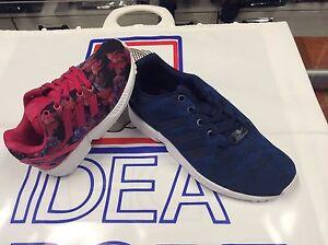 taille 40 3a87d 2cb13 Détails sur Chaussure Enfant / A Adidas Modèle Zx Flux Coul. Fuchsia Motif  à Fleurs (Fille)