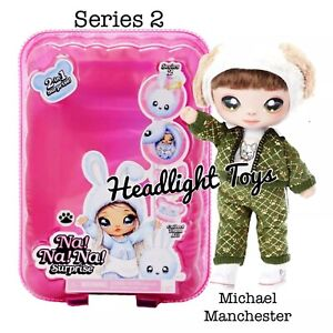 Series-2-Na-Na-Na-Surprise-MICHAEL-MANCHESTER-2-IN-1-Fashion-Doll-Pom-Purse-NEW
