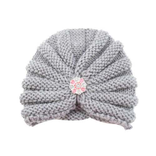 Toddler Baby Girls Boys Infant Warm Winter Knit Beanie Hat Crochet Ski Ball Cap
